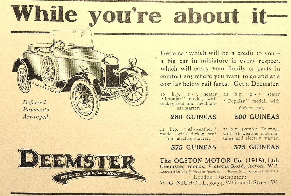 Old Deemster adverts